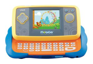 Educational tablets for kids. The illustration of a MoboGo fun learning tablet.