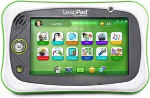The picture of a LeapPad Ultimate Tablet. Our Kid's Will Obtain Their Academic Goal's, With These Great Fun Learning Device's, That Will Be The Reality, As We Continue To Very Diligently Engage Them With Their Early Goal Orientated Learning Process, For Success!!