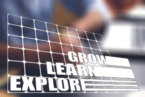 An illustration of Grow, Learn and Explore.