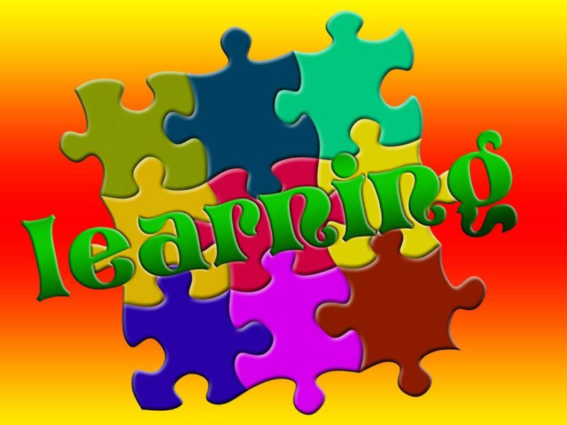 Very colorful picture of a puzzle illustrating learning.