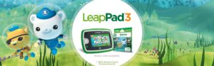 The cool picture of the LeapPad 3, along side animated characters.