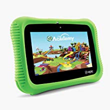 The colorful picture of a LeapPad epic academy edition fun learning tablet.