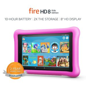 Best kids tablets. The picture of a Amazon Fire HD 8 kids tablet.