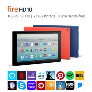 Amazon tablets sale. The Amazon Fire HD 10.