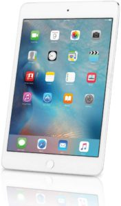 The picture of a Apple IPad mini 4, tablet.