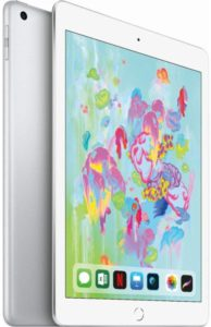 The picture of a Apple I-Pad 6th generation tablet.