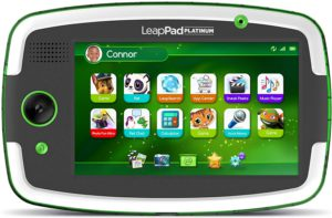 The colorful picture of the LeapPad Platinum, fun learning tablet.