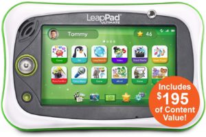 The top 5 tablets kids. The picture of the LeapPad Ultimate, fun learning tablet.
