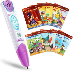 The very colorful illustration of the LeapFrog LeapReader Reading and Writing System.