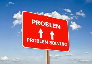 Best kids tablets. The picture of a sign stating Problem with arrows pointing up and down to problem solving