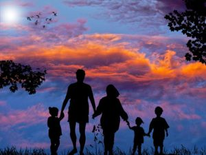 Reviews of The Best Technologies For Kids of All Ages. The wonderful picture of a family holding hands in the sunset.
