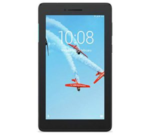 Best 7-Inch tablet reviews. The colorful illustration of airplanes on the screen of a Lenove tab 7