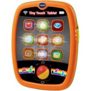 Best kids tablet. The colorful picture of a v-tech tiny touch tablet.