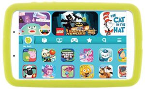 Samsung Android. The colorful illustration of a Samsung kids edition tablet.