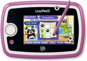 Kids online learning. The colorful picture of the LeapPad 3 fun learning tablet.