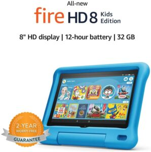 Amazon Fire HD 8 Kids edition. Top 10 Tablets Kids: Educator Endorsed Fun Learning Devices