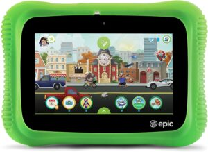 The colorful illustration ot the leappad epic academy edition.