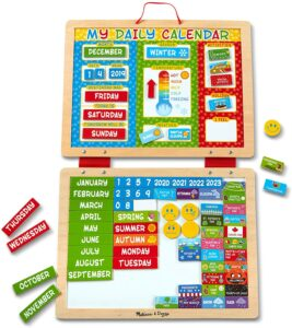 My Magnetic Daily Calendar. Best Educational Toys For 3-Year-Olds Seeking Early Academic Growth